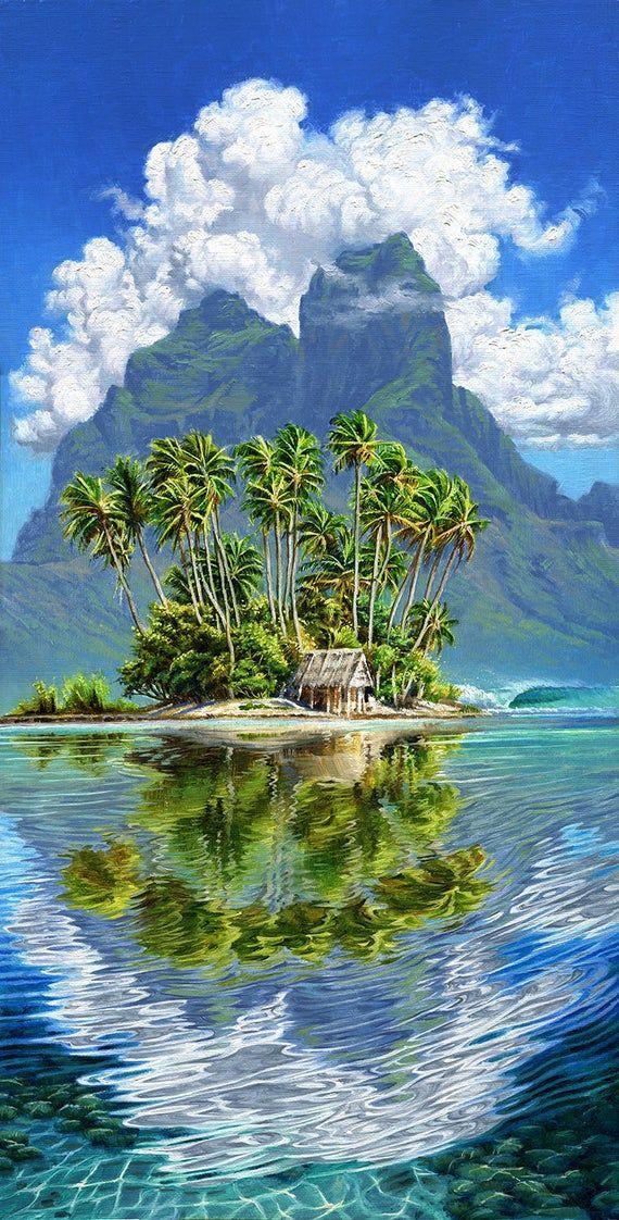 Shack in Bora Bora - French Polynesia - Island Collection -Fine Art by Phil Roberts
