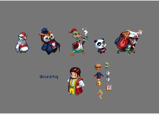 Some character designs & icons for Baiten #pixelart #gamedev https://t.co/HF4btOFfup