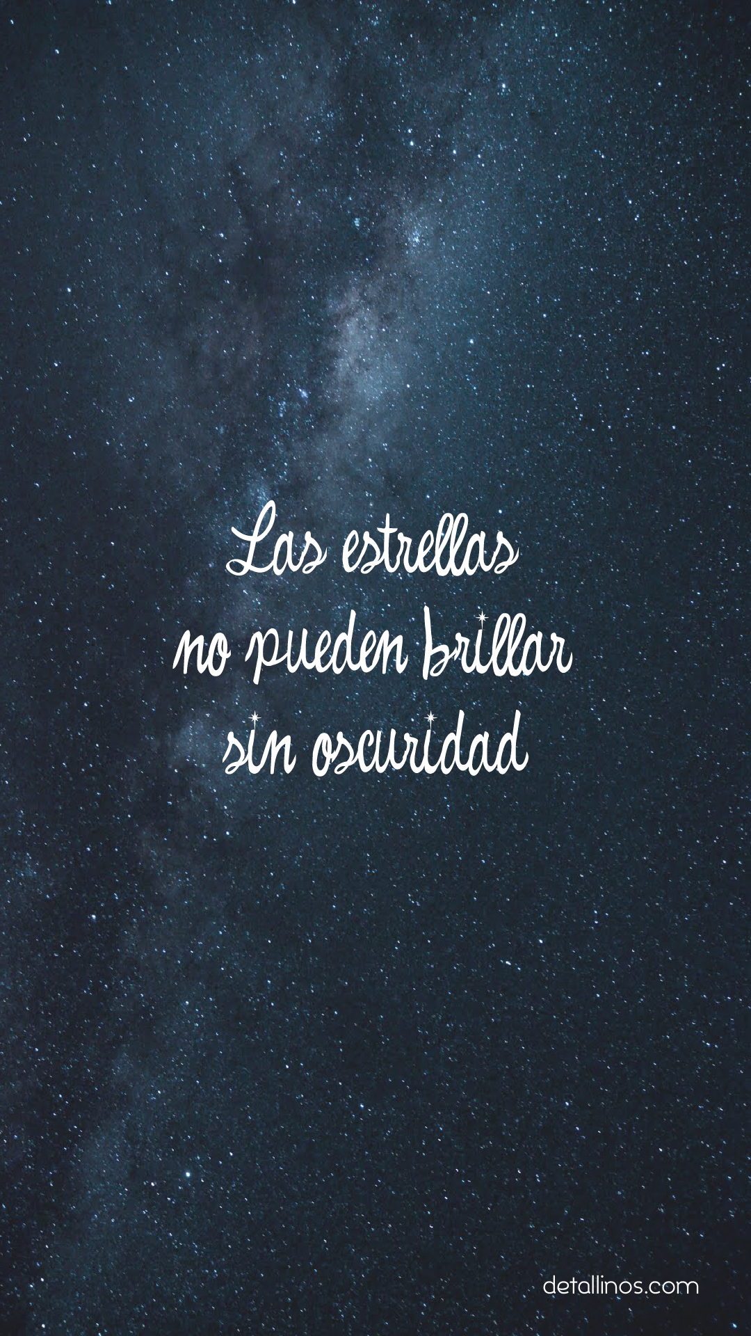 Las estrellas no pueden brillar sin oscuridad.