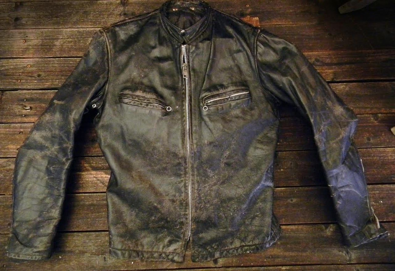 An Awesomely Cool 1960 S Fidelity Steerhide Leather Cafe Racer Jacket Rare General Zippers Sz 38 With Awesome Cafe Racer Jacket Vintage Leather Jacket Jackets