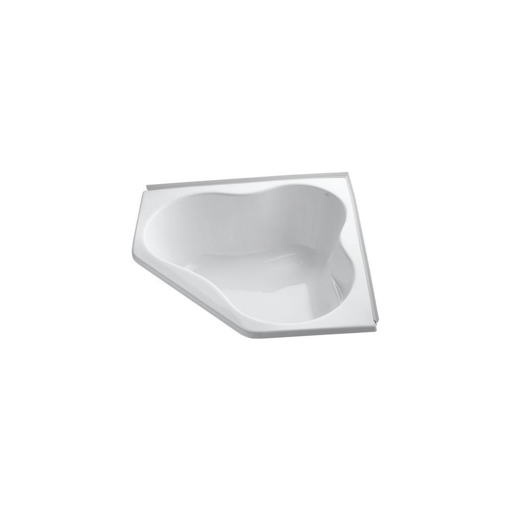 KOHLER ProFlex 4.5 ft. Acrylic Corner Drop-in Non-Whirlpool Bathtub ...