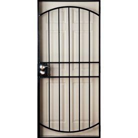 Black Metal Screen Doors gatehouse gibraltar black steel security door (common: 36-in x 81