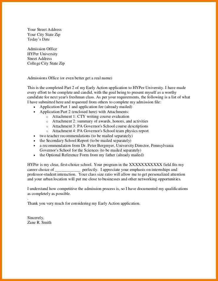 Application Letter For Admission School Llege Cover Appeal Letters