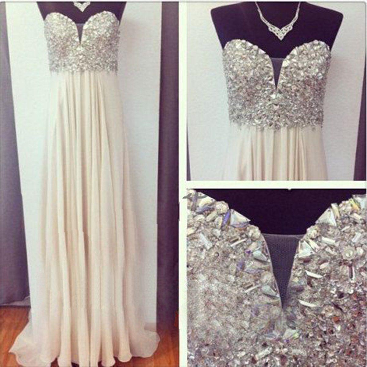 Ivory prom dressesa line prom dresschiffon prom dresssimple prom