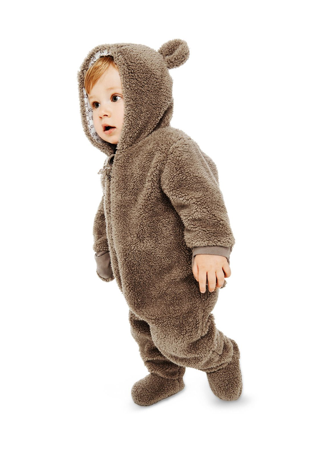 Clothes Baby Romper Animal Fleece Coat Bear Rabbit Sheep Winter Warm Coat
