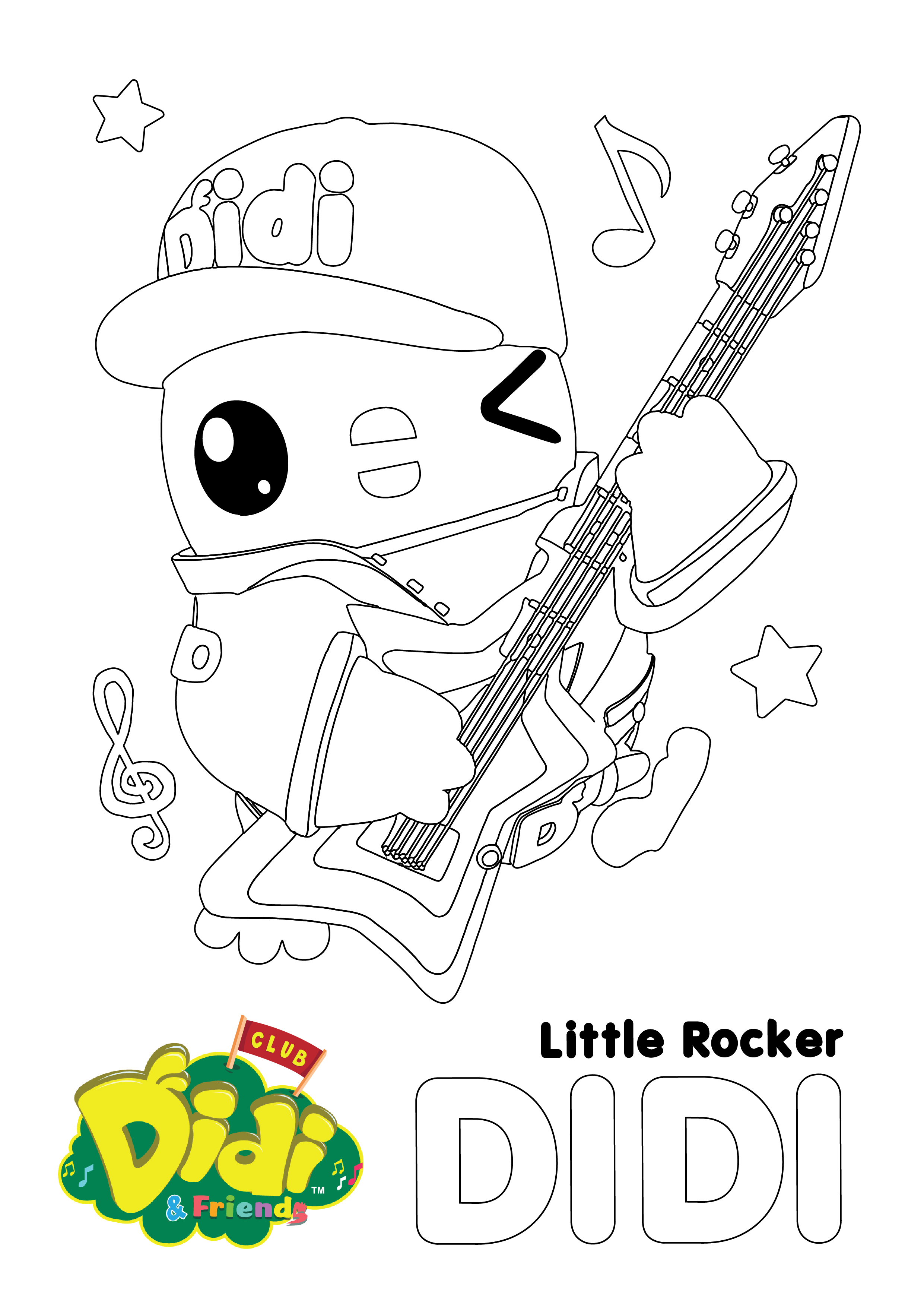 Free Colouring Sheet Didi Friends Nursery Rhymes For Kids Puppy Coloring Pages Free Printable Coloring Sheets My Little Pony Coloring [ 3508 x 2481 Pixel ]