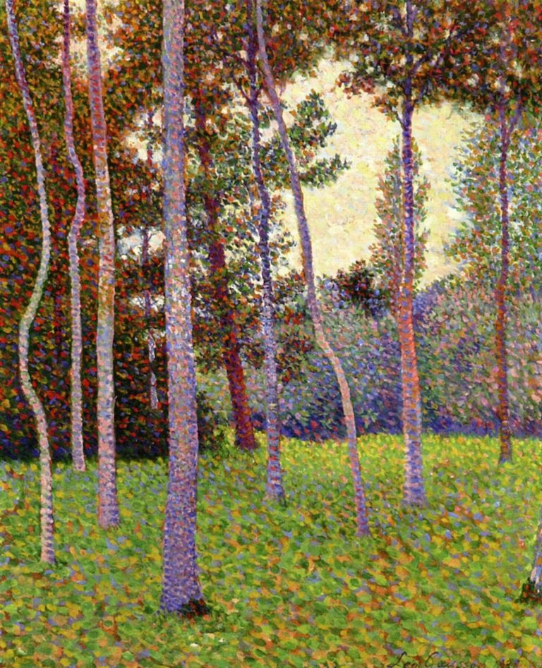 Neo Impressionism: Forest Scene. As An Innovative Artist, Léo Gausson (1860