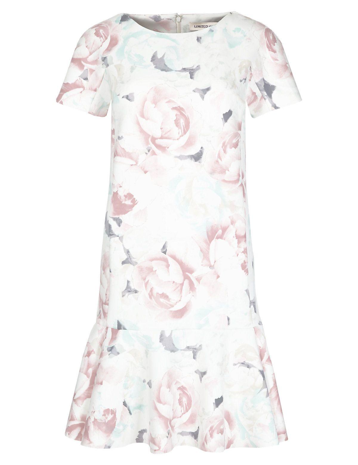 Floral Drop Waist Dress | M&S | Vintage style | Pinterest | Drop ...