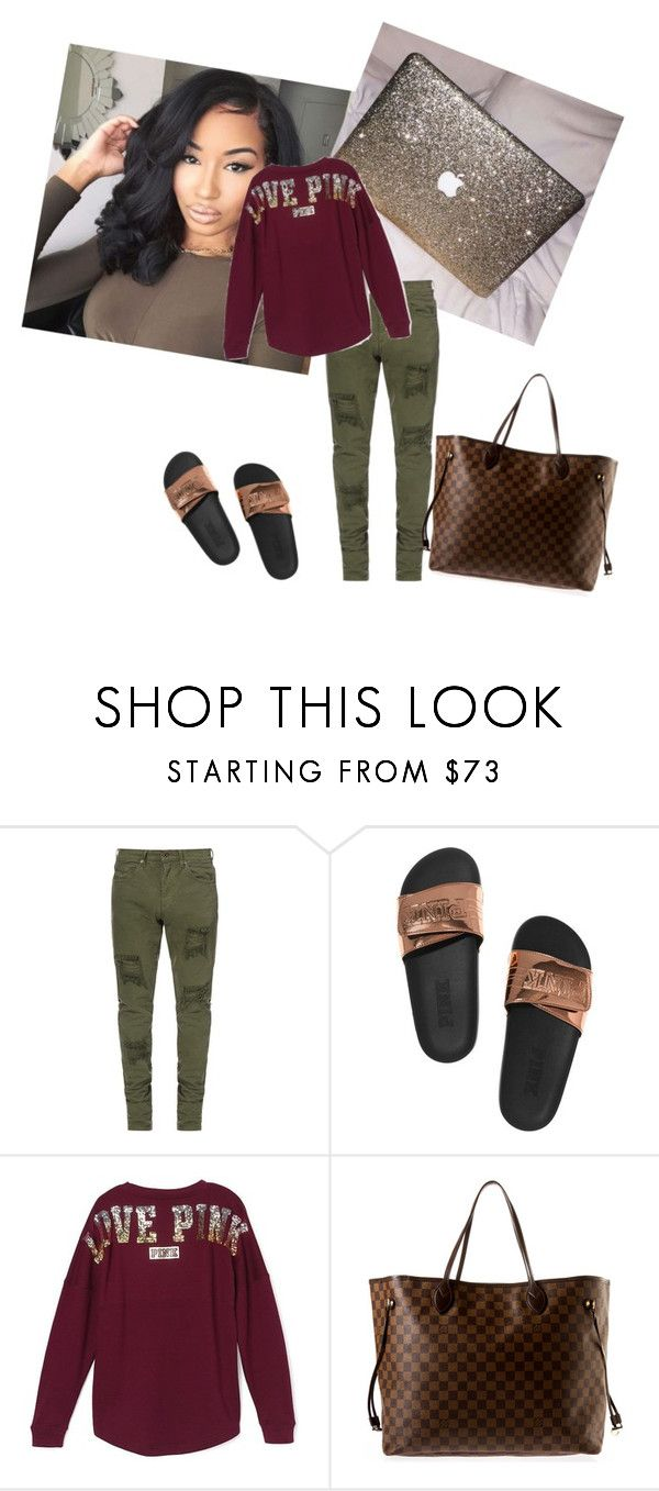 """""""Untitled #88"""" by xotavia ❤ liked on Polyvore featuring Victoria's Secret and Louis Vuitton"""