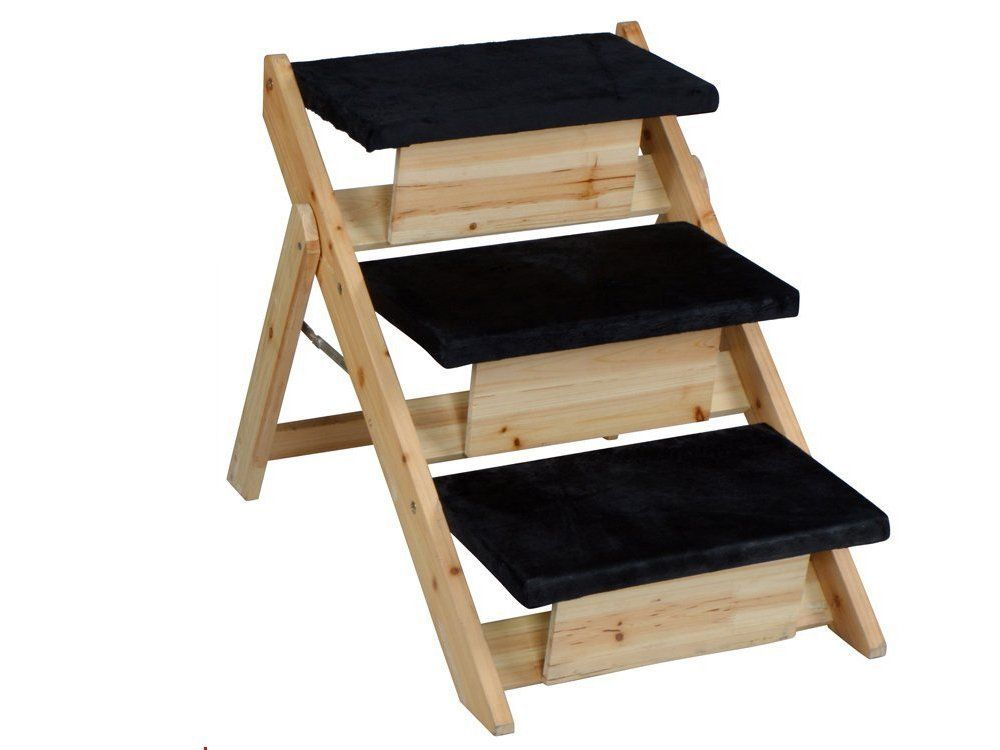 Best Tms® Pet Folding 2 In 1 Stairs Ramp Non Slip Sturdy Wooden 400 x 300