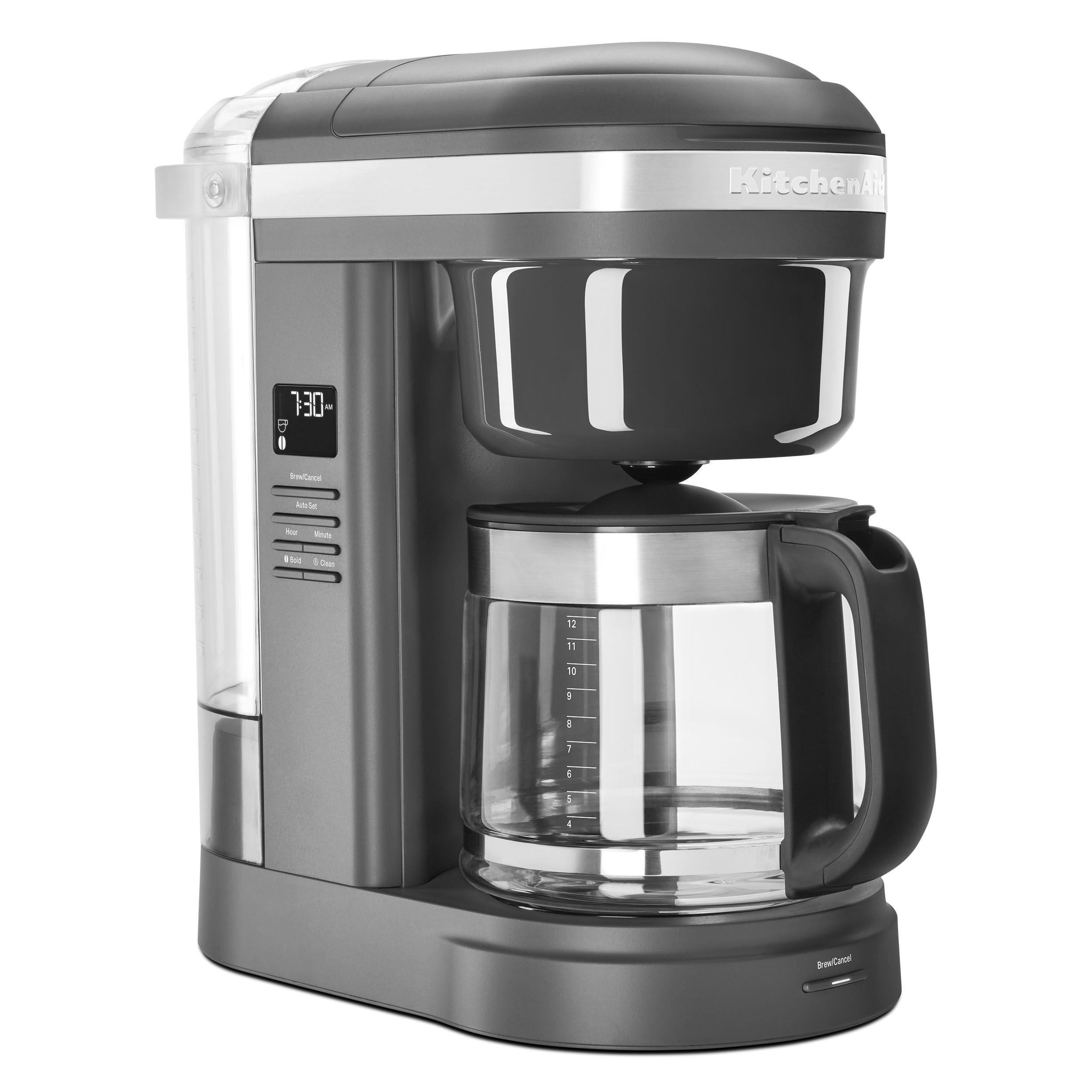 Kitchenaid 12 cup drip coffee maker with spiral showerhead