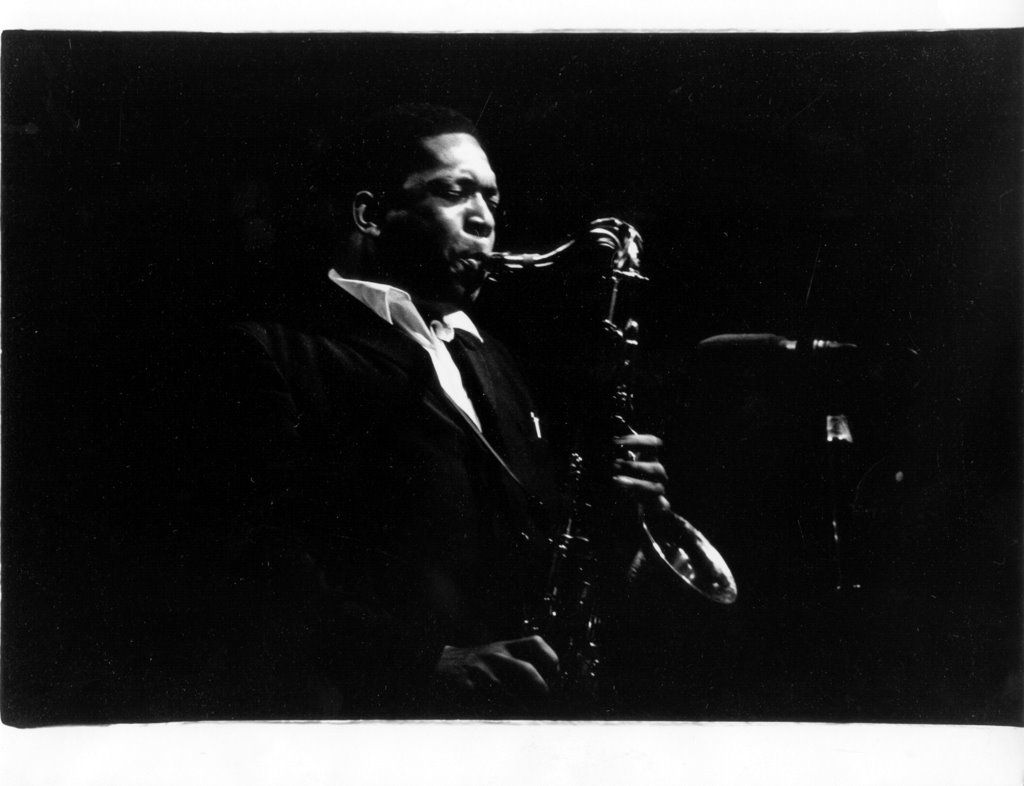 John Coltrane, Downbeat Jazz Festival, Chicago, Ill., 14-16 August 1965, photo by Robert Bolton, Southern Folklife Collection, #...
