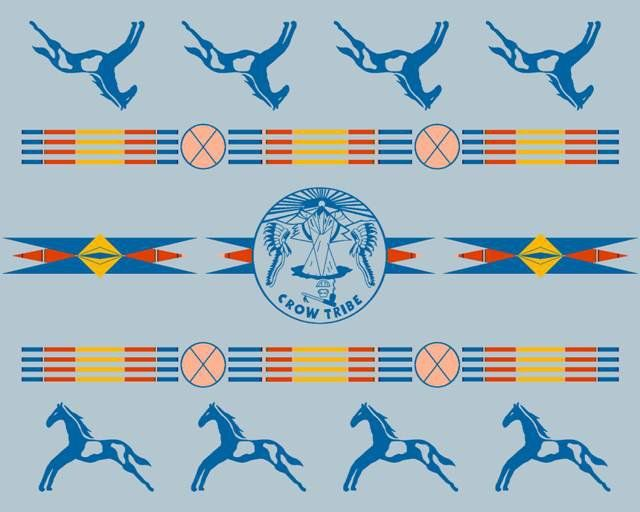 Crow Nation Pendleton Blanket Available At Crow Tribal Headquarters