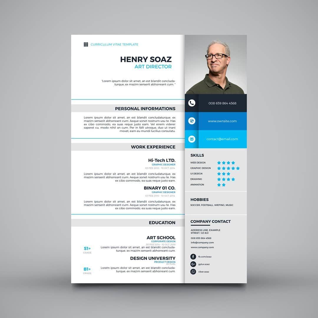 Modele De Cv En Ligne A Telecharger Et Personnaliser Avec Microsoft Word Ou Powerpoint Nouvel Cv Template Free Resume Design Template Resume Design Creative