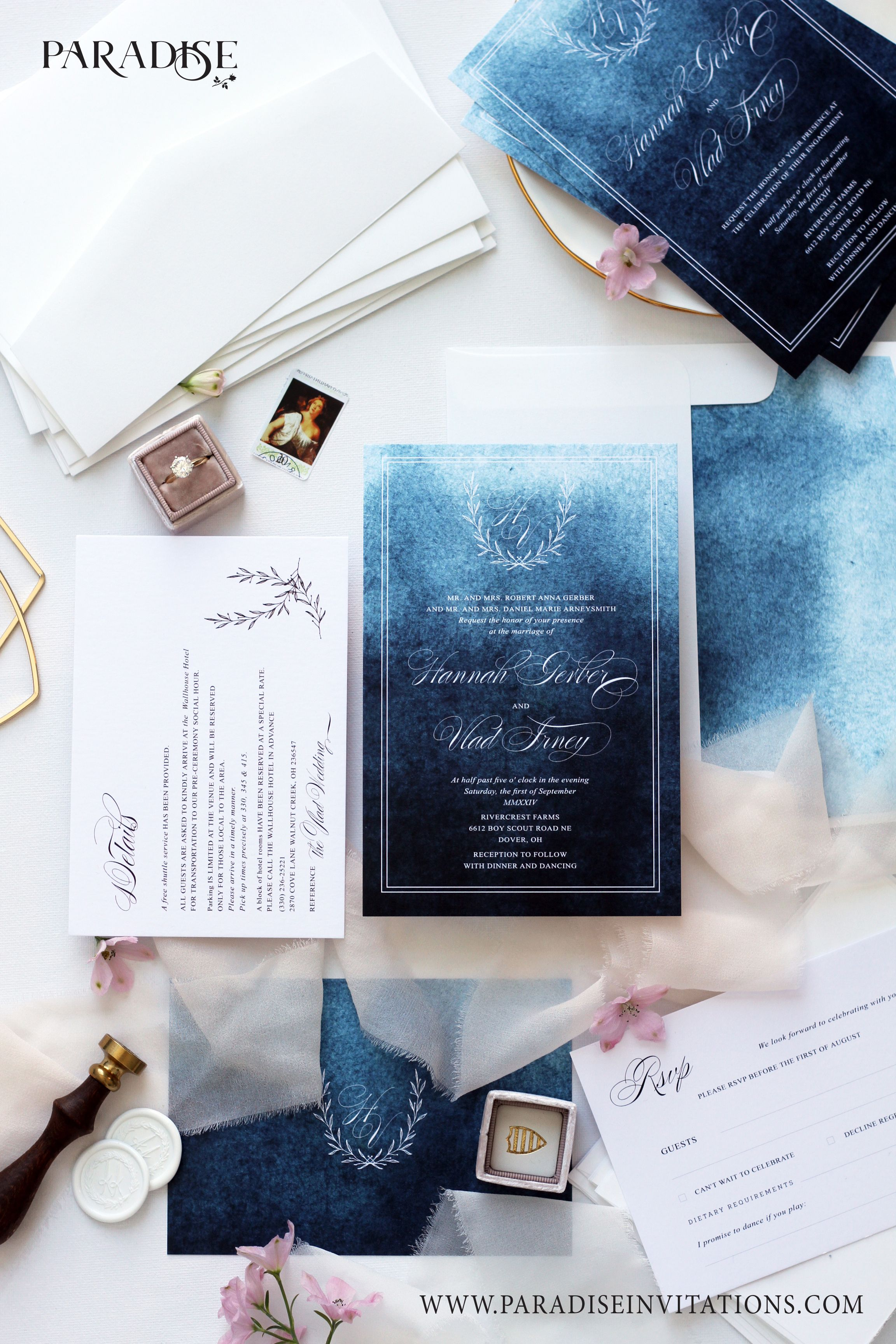 Navy Blue Watercolor Background Wedding Invitation Wedding Invitation Weddinginvitation Weddingst Contoh Undangan Pernikahan Undangan Pernikahan Pernikahan