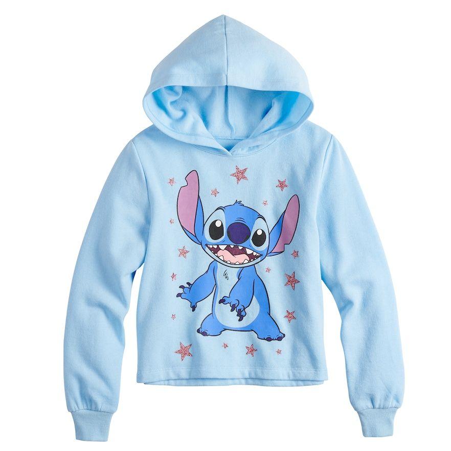 172311cf21 Disney's Lilo & Stitch Girls 7-16 Long Sleeve Cropped Hoodie ...