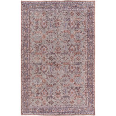 Heerhugowaard Hand Knotted Wool Purple Area Rug Purple Area Rugs Area Rugs Wool Area Rugs
