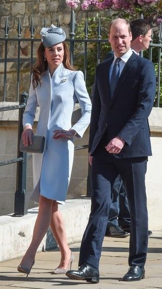 21 April 2019 Easter Services in Windsor The Duke and Duchess of Cambridge arrive for the Easter