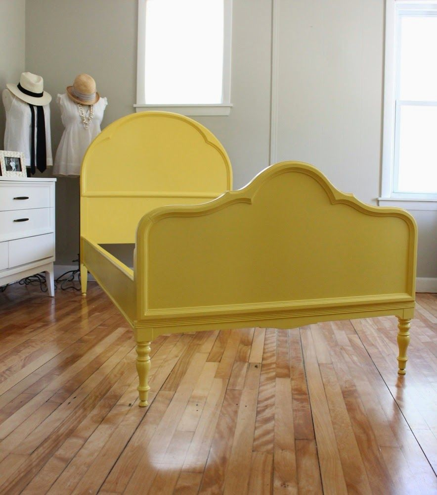 Yellow Modern Vintage Twin Bed Frame Sold Twin Bed Frame Yellow Bedding Bed Frame