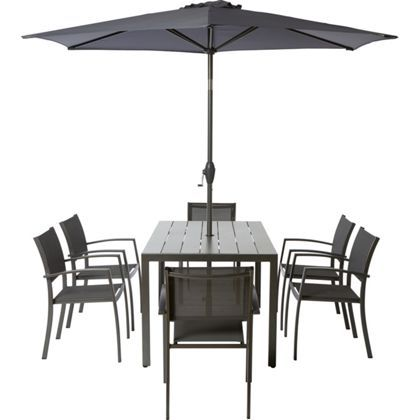 halden 6 seater metal garden furniture set collect in store - Garden Furniture 6 Seater