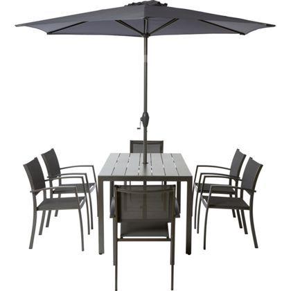 Halden 6 Seater Metal Garden Furniture Set Collect In Store
