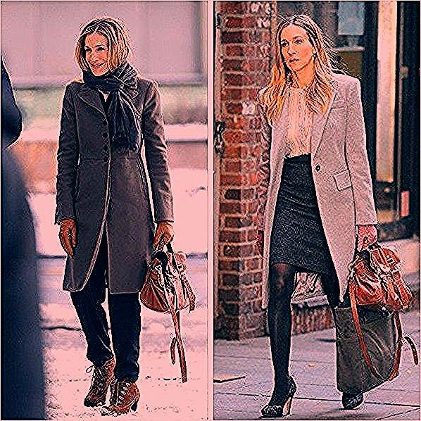 Also quite fond of this tan Mulberry bag. #sjp #sarahjessicaparker #carrie #sexa...