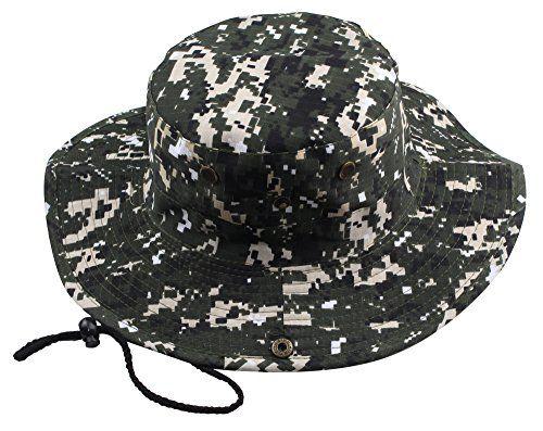 Kaisifei Men's Bucket Hat Boonie Hunting Fishing Outdoor Cap Canvas Military Sun Hat (Camo Green) Kaisifei http://www.amazon.com/dp/B00ZUKYQ7I/ref=cm_sw_r_pi_dp_JzKMvb0SRG2QD