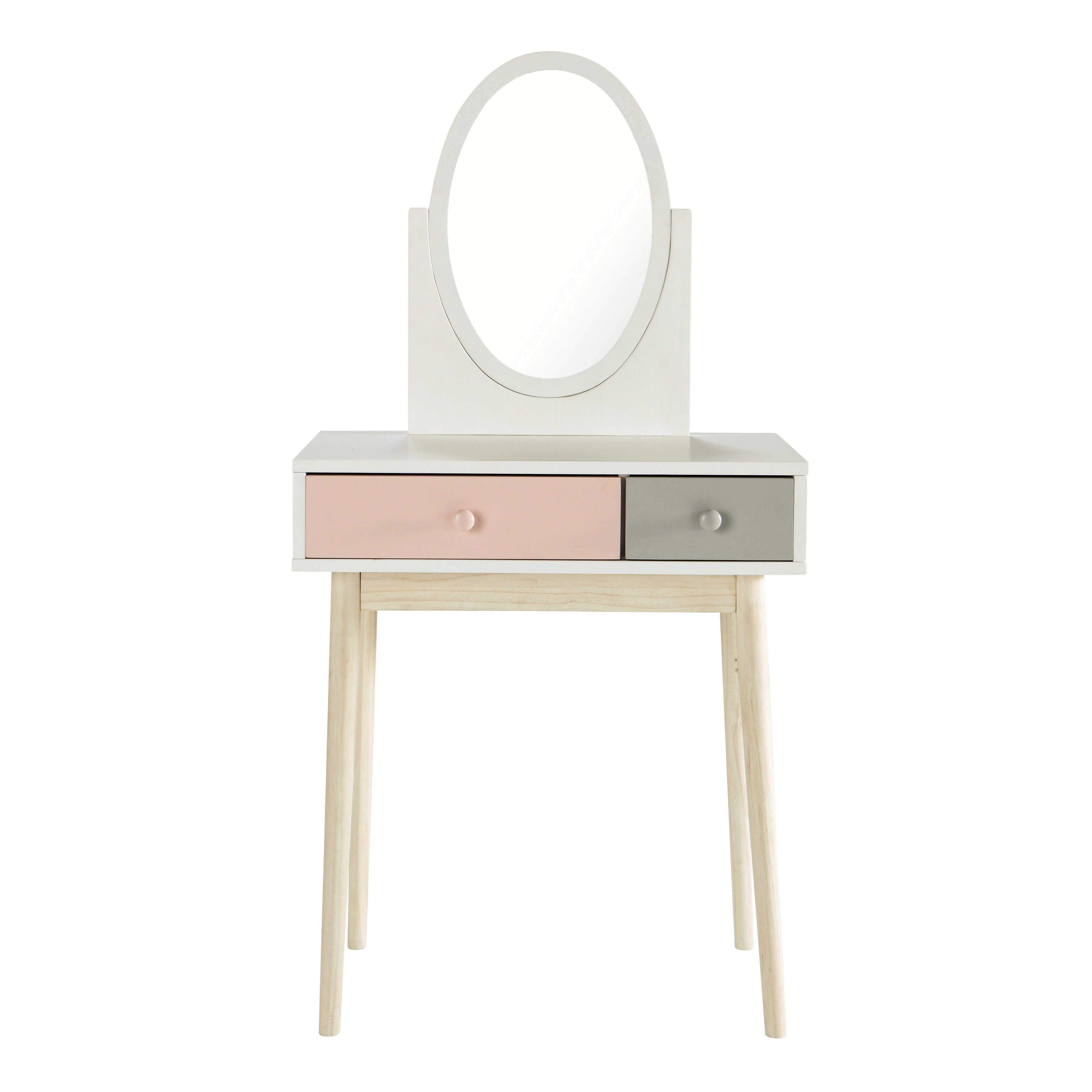 coiffeuse vintage blanche et rose in 2019 vintage dressing tables white vintage