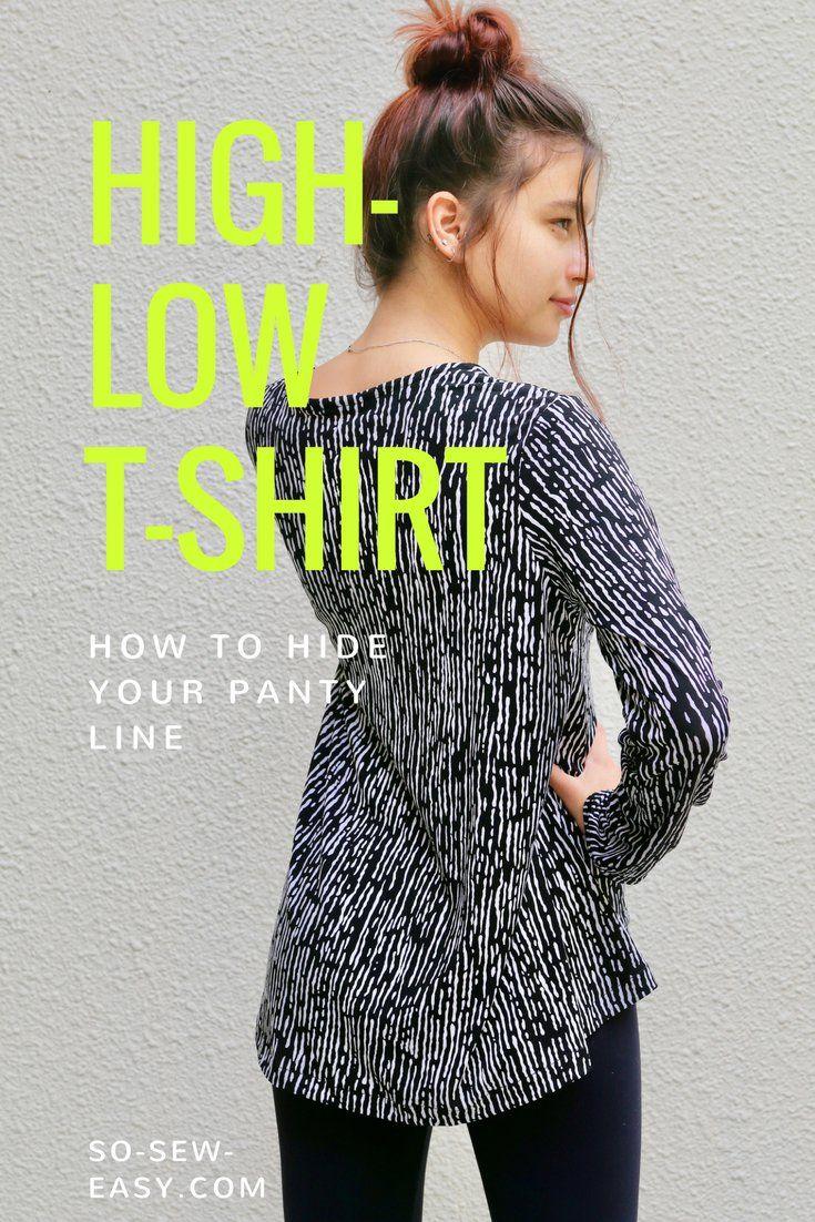 high-low t-shirt = gratis patroon + duidelijke uitleg - tot maat XXL
