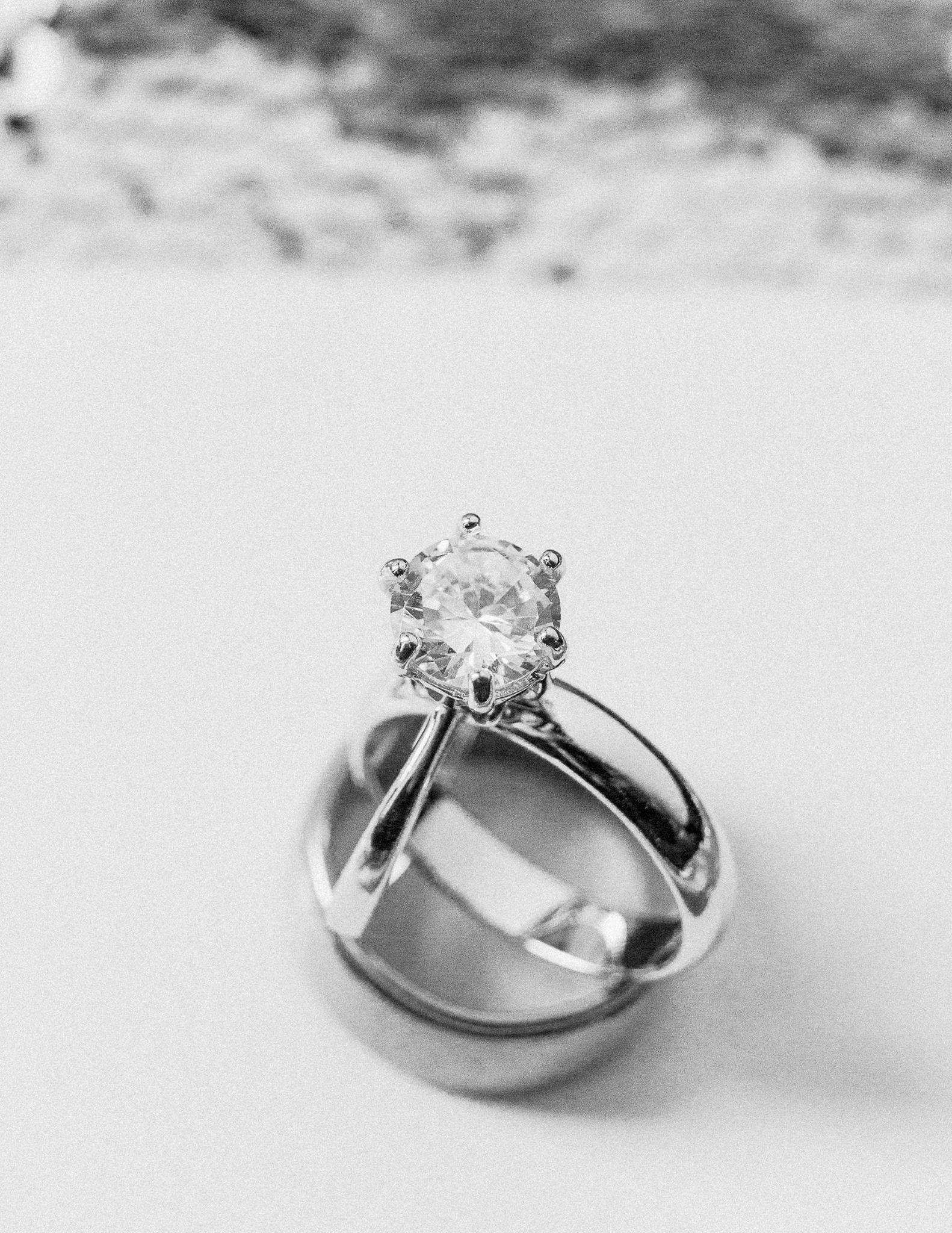 John And Emma Wedding Rings Simple Elegance Diamond Platinum Daniel Valentina Photography