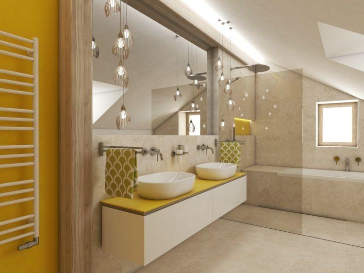 Badezimmer Mit Dachschräge Farblich Gestalten   Idee