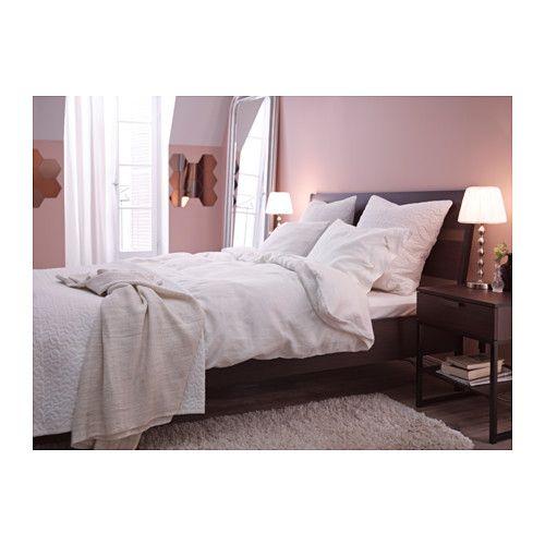 Trysil Bed Frame Dark Brown Luroy Full Full Bed Frame Home Bedroom Make Your Bed