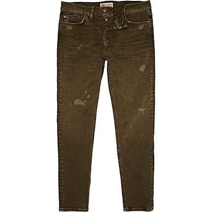 Khaki green Dylan slim jeans £40.00