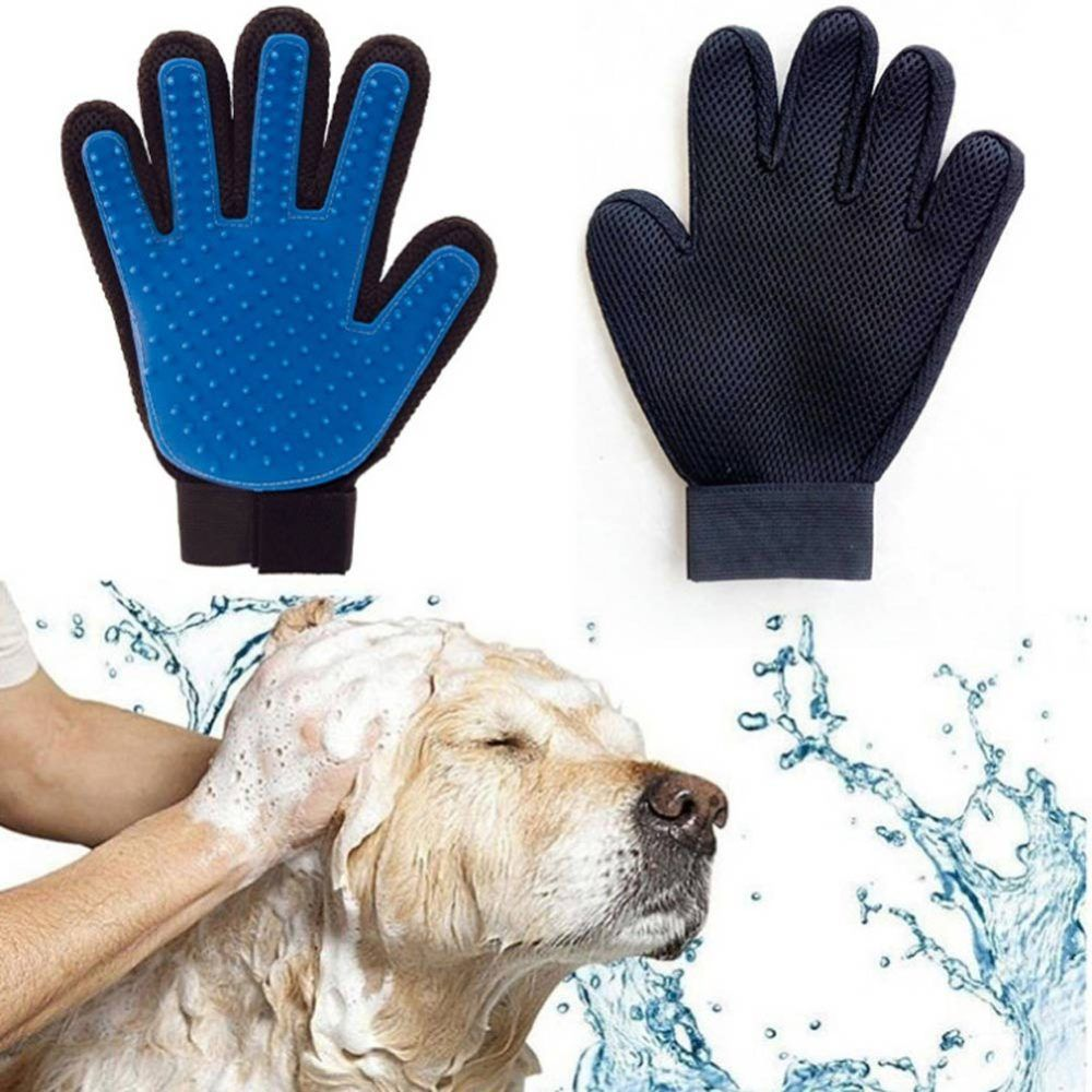 Easytouse rubber dogs grooming glove