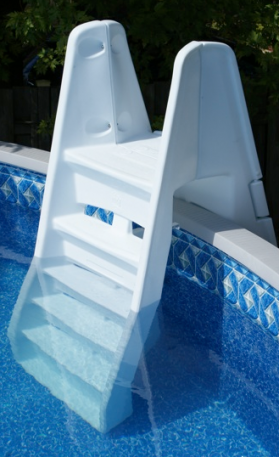 the azur ladder combines security and sturdiness with a weight limit of perfect for the above ground pool the outside part is equipped with a door that