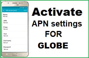 Apn Settings For Globe - apn android , apn for globe , apn