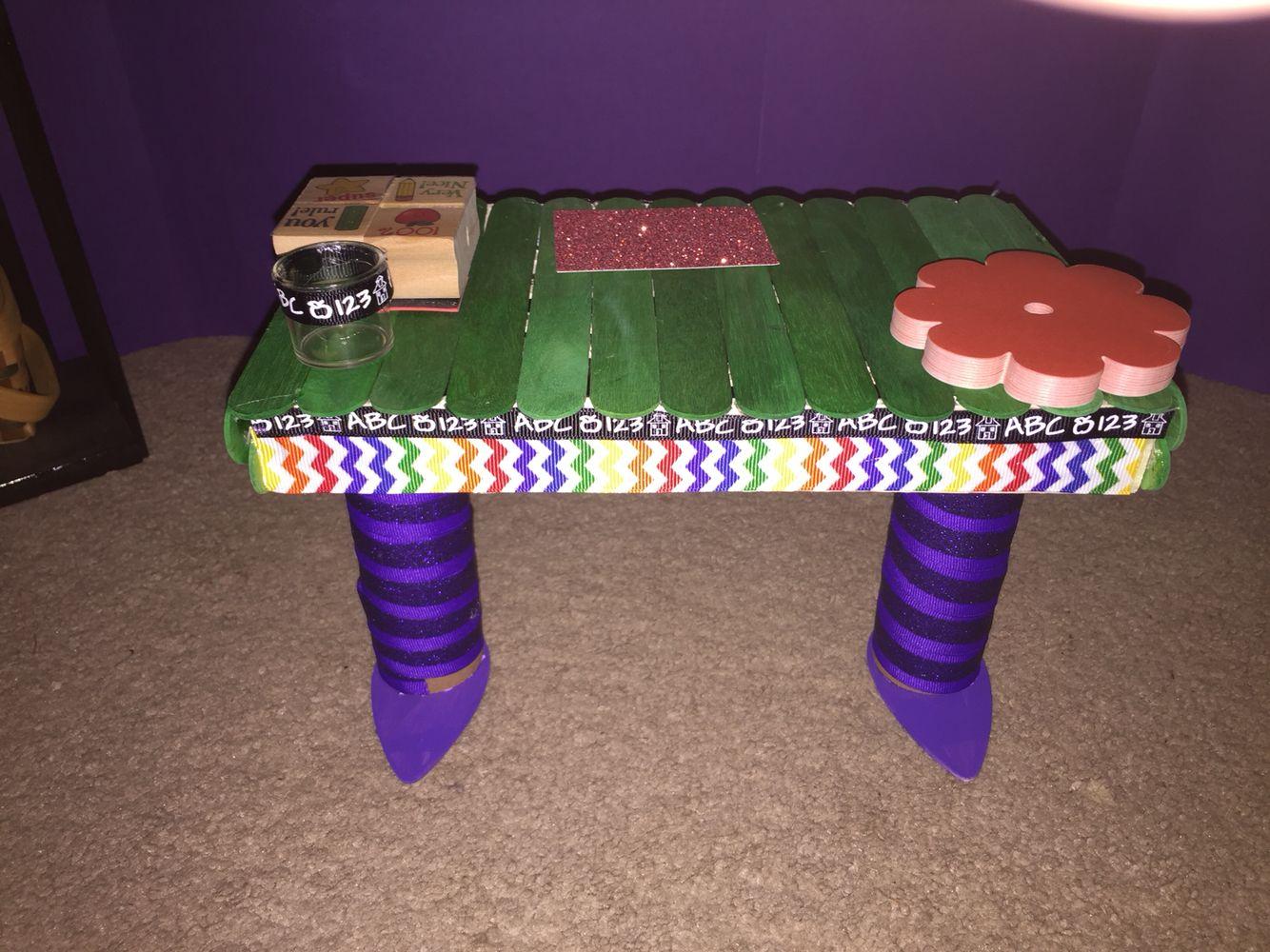 Doll school desk