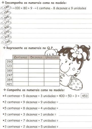 Ensinando com Carinho: Atividades de Matemática 3º ano