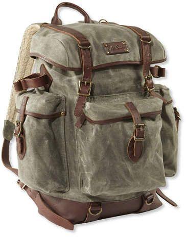 L L Bean Waxed Canvas Continental Rucksack Backpack Ad Llbean
