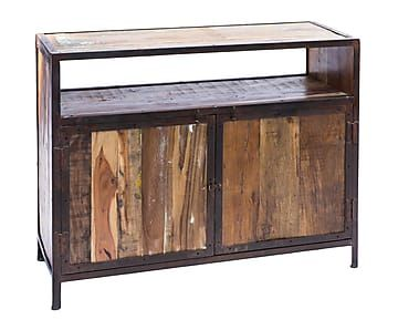 mueble para tv de metal y madera reciclada saluzzo