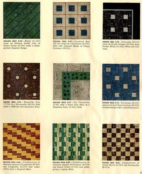 1950s Vinyl Floor Tile Designs Vinyl Tiles Bathroom