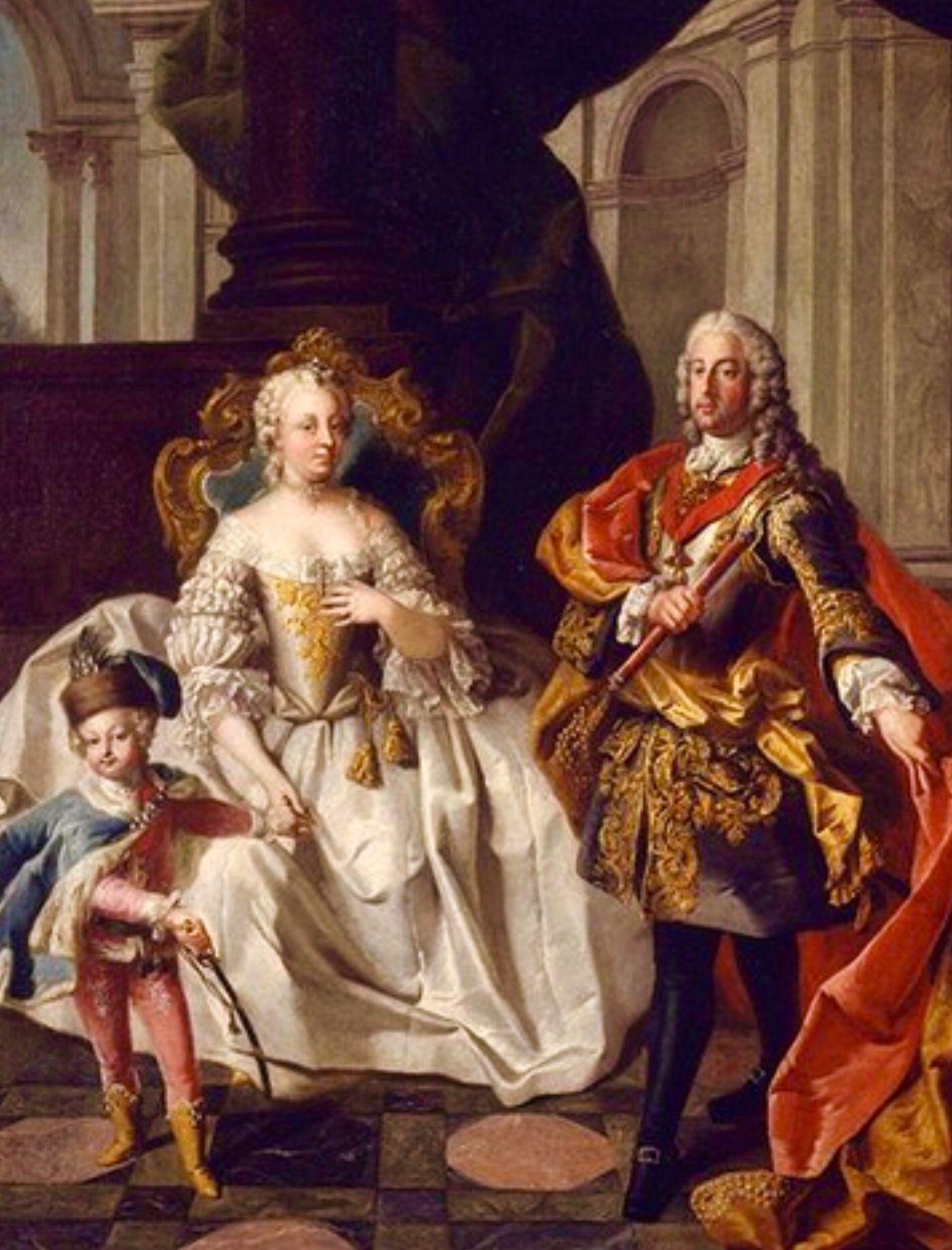 Los Emperadores; María Teresa y Francisco, padres de María Antonieta .