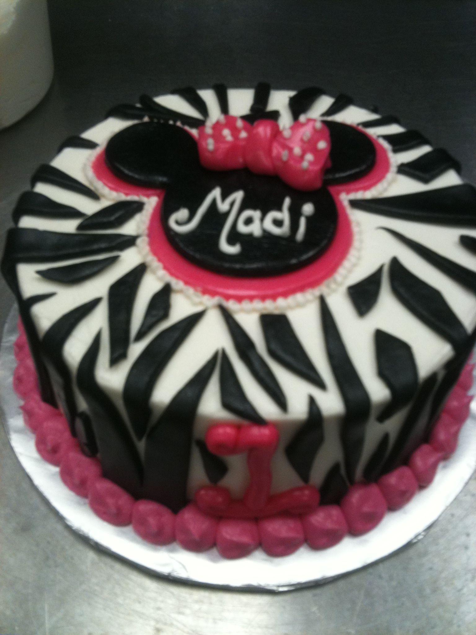 Zebra Birthday Cake Homemade
