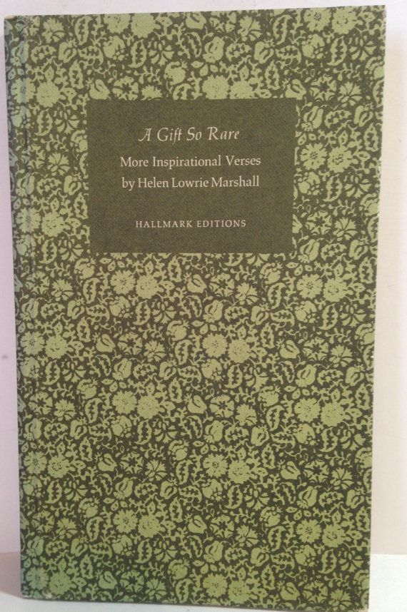 Hallmark Gift Book, Rare Old Book, Collectible Book, Old Poetry ...