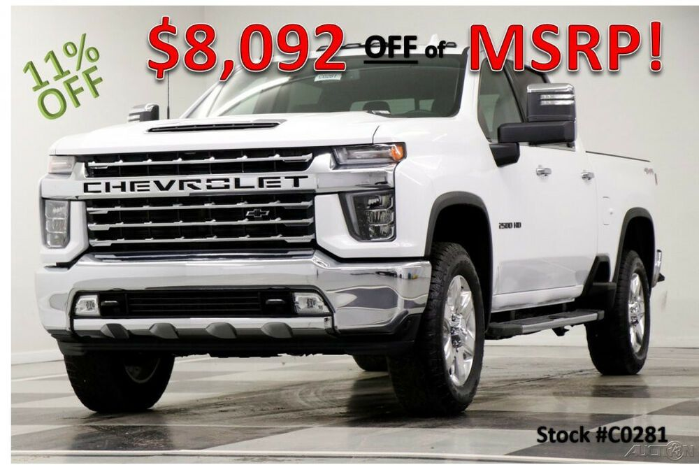 2020 Chevrolet Silverado 2500 Hd Msrp 71795 4x4 Ltz Diesel Sunroof