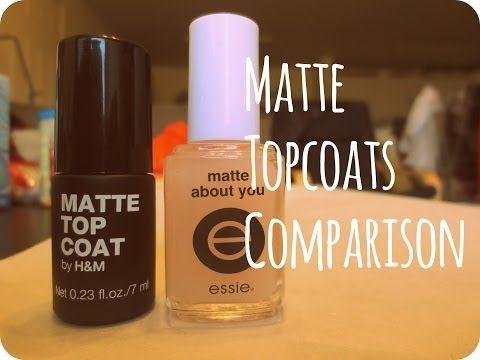 Matte Topcoat comparison (Essie and H&M) Essence nail polish