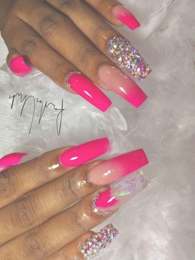 Summer Colors Nail Designs Pretty Acrylic Nails Pink Nails