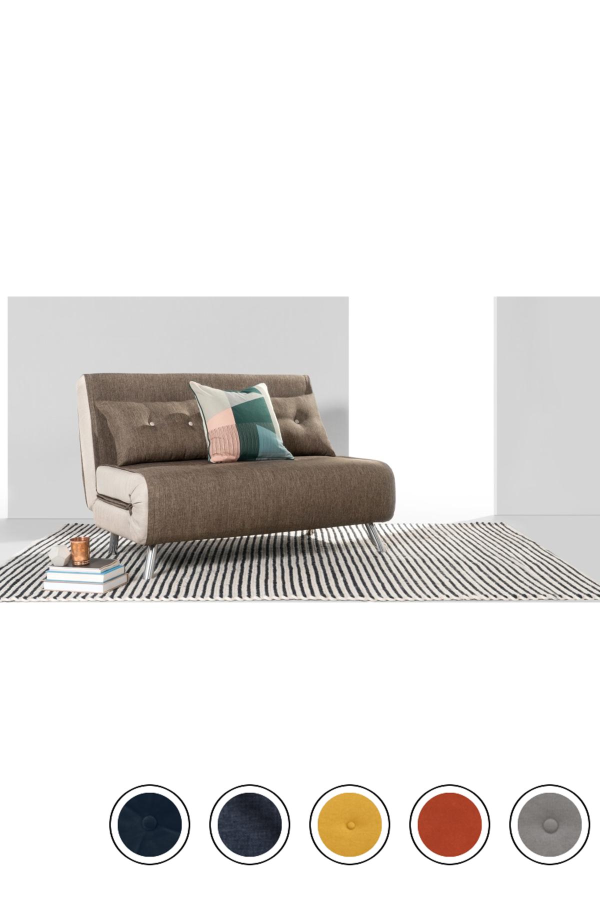 Made Small Sofa Bed Woodland Brown