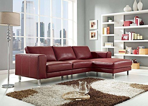 Astounding Creative Furniture Anika Sectional Right Facing Chaise Red Forskolin Free Trial Chair Design Images Forskolin Free Trialorg