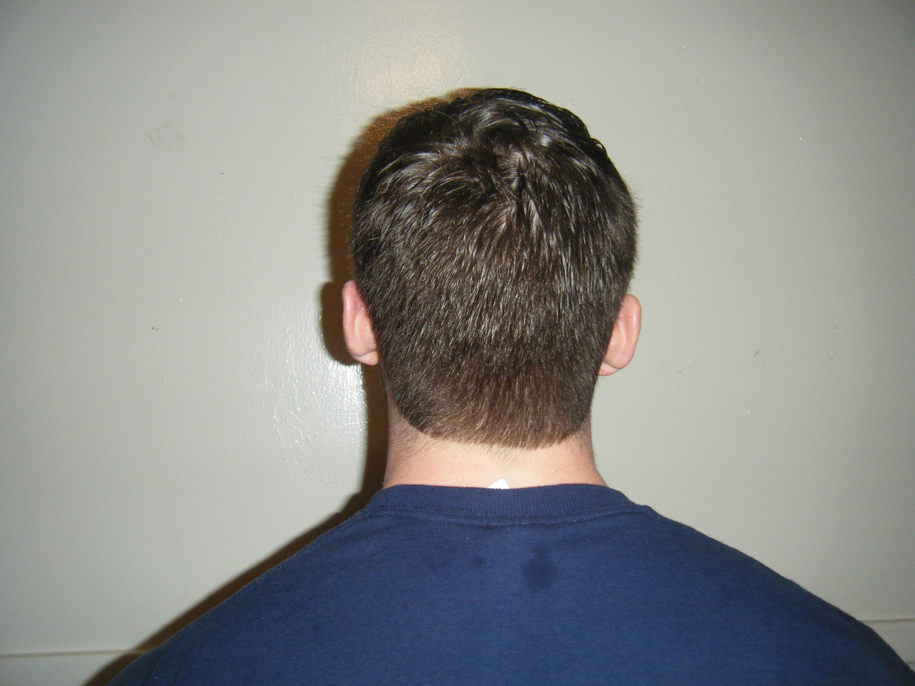 view of short haircut